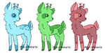 Deer Adopts: CLOSED by Alex-Adopts