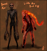 Little Ms Bad Egg+Burned Man by Snook-8