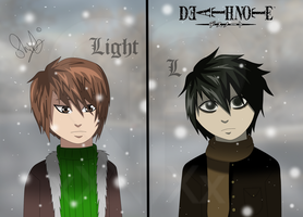 Light and L: Childhood by HwayoungMarshmallow