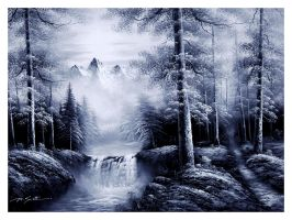 mountain painting by lambo311