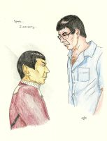 Spock... I am sorry... [Nimoy and Spock] by AloiInTheSky