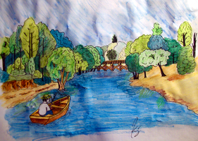 River drawing by skruffy123