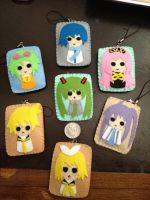 Vocaloid Felt Keychain/Pin/Button by jaysanzo