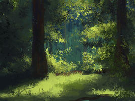 Tranquil Forest by LyFaye