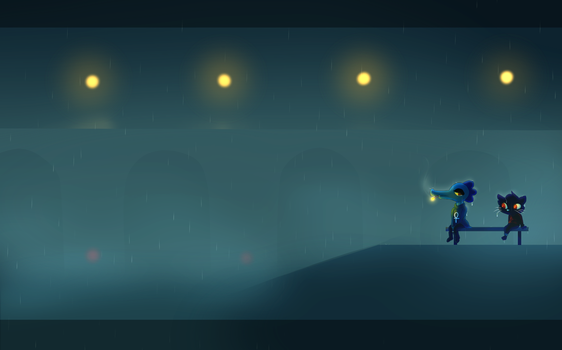 Night In The Woods Screenshot Redraw by Toon-Fawn