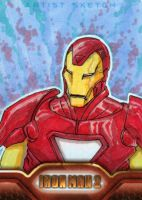 Iron Man 2 sketchcards 1 by SpiderGuile