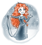 Winter Merida by daekazu