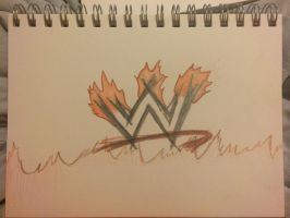 WWE sign hell fire by VISIONARYGirl