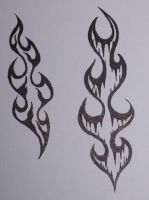 flame tattoo designs on flames 6 years ago in tattoo design 5 comments more like this