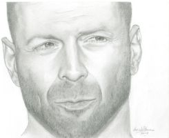 Bruce Willis by CarinKaySpence