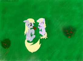 Derpy and little Dinky by Sludge888