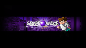 GrapeAppleSauce - Minecraft Youtube Banner by FinsGraphics