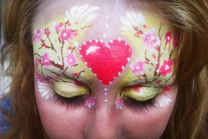 Valentine's day facepaint by Blueberrystarbubbles