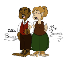 Mr. and Mrs. Brownsie by Muteki-The-Awesome