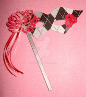 Hatter's Rose-Paper Ornament by CharmedTraditions