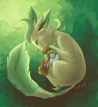 leafeon by Kitzophrenic