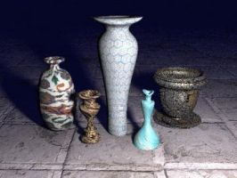 Bryce Vases set 1 by pazoozoo