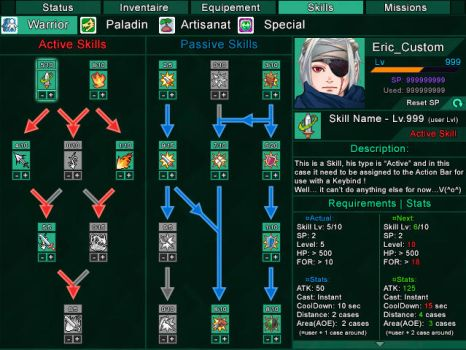 TL2D-RMVXA Project: Skill Tree Concept 1.1 by TeamL2DCompany