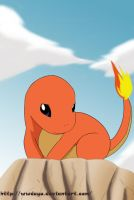 Charmander on the Rocks by Icy-Snowflakes
