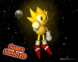 Super Sonic 3D by WingedKnight7