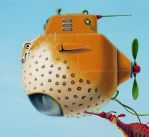 Moon Chasers Too  -puffer fish by LindaRHerzog