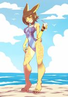 Loui on the Beach by playfurry