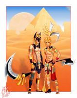 ++anubis and ra++ by TaneKore