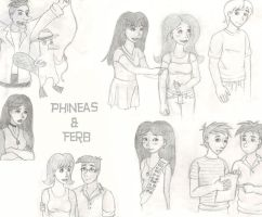 Phineas and Ferb Collage Pic by LindaJV