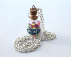 Nerds Candy in a Bottle Necklace by ChroniclesOfKate