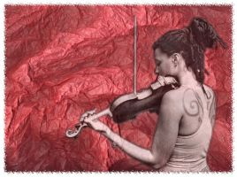 Violin in the forest by epikurewicz