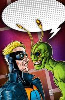 Animal Man / Ambush Bug - Issue #3 Cover by ElOctopodo