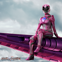 Pink Ranger Promotional Poster  by Artlover67