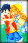 LuffyXxXNami- A hug with passion by RinALaw