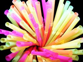 Multicolored Straws. by zombieerose