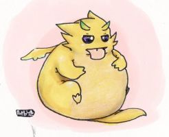 Round Yellow Dragon by mickeystat1141