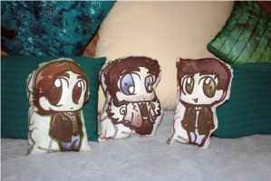 Castiel Dean and Sam Supernatural Chibi Pillows by KouranKiyo