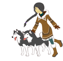 STP: Alaska and her Dogs by TuxBirdee