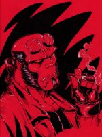 Hellboy n  Red by Kid-Destructo