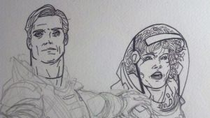 Prometheus - David and Shaw Closeup by Essig-Peppard