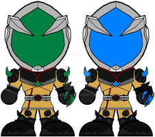 Chibi Kamen Rider Mage (Other Versions) by Zeltrax987