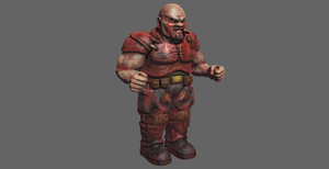 Doom 2 Heavy Weapons Dude MudBox Render by s13n1