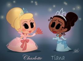 Chibies Charlotte and Tiana by princekido