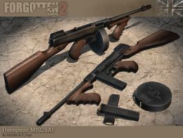 Thompson M1928A1 SMG by McGibs