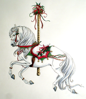 2009 Christmas Carousel by lunatteo