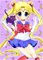 Sailor Moon! + SpeedPaint by PuffyPrincess