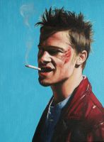 Tyler Durden (Brad Pitt in Fight Club) by agusgusart