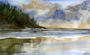 Watercolor Lanscape by Angela-Vandenbogaard