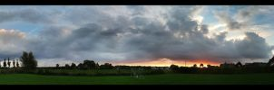 Dingden Sunset (Panorama) by skywalkerdesign