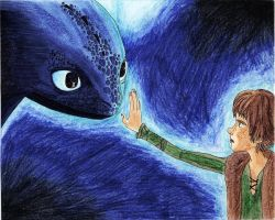 Toothless and Hiccup by Becky0109