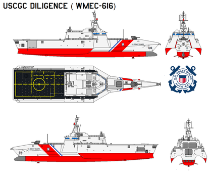 USCGC Diligence (WMEC-616) by bagera3005